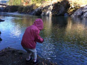 娘っ子 魚釣りをするんだそう。