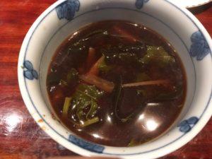 味噌汁 大根、大根葉、昆布、サツマイモ(娘用)